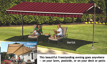Freestanding Oasis Awning Sunsetter Awnings By Lanier Aluminum